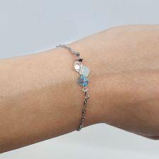 Гривна CANDY SEA с кристали SWAROVSKI® в синьо-зелен цвят, Код PR B702