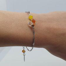Гривна CANDY SUMMER с кристали SWAROVSKI® в жълто-оранжев, Код PR B701