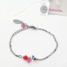 Гривна CANDY SWEET с кристали SWAROVSKI® в розово-червен цвят, Код PR B700