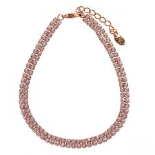 Гривна с кристали SWAROVSKI® DACOTA GOLD с 18К Розово Злато, Zerga Brand ZG B569