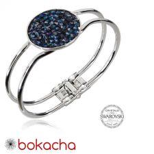 Гривна с кристали Swarovski® CRYSTAL ROCK, Bermuda Blue BBL, Код PR B440B