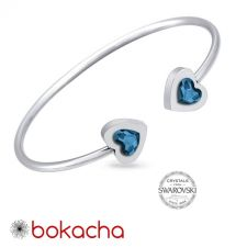 Гривна с кристали Swarovski® MY HEART Denim Blue Crystal, Син цвят, Код PR B557