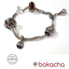 Гривна с талисмани БЛЯСЪК В НОЩТА, Swarovski® Pave Beads, Код PR B566