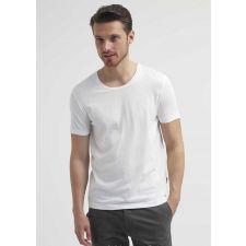 Eфектна тениска TIGER OF SWEDEN в бял цвят с къс ръкав, Размер XL, Код BL357