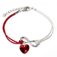 Гривна МАРТЕНИЦА SWAROVSKI® HEART SIAM червен цвят, Код PR B447B