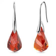 Обеци с кристали Swarovski® HELIX Red Magma 18 мм, Червен цвят, Код PR E605