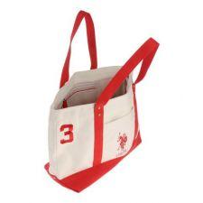 Спортна чанта U.S. Polo Assn в бяло и жълто, Код F155