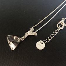 Колие FAITH Swarovski® Triangle, Crystal**, Бял, Код PR N482