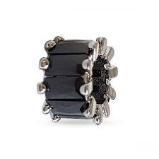 Талисман AFFECTION Austrian crystals в черен цвят, Код PR V015
