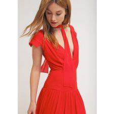 Официална дълга рокля JARLO цвят червен, Код DD0066