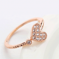 Пръстен с кристали Swarovski® PENELOPE с 18К Розово Злато, Zerga Brand ZG R439A