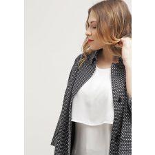 Женствена блуза JUNAROSE в съвършенобял цвят, Размер XL, Код BL115