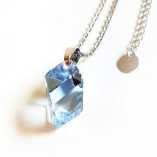 Колие с кристали Swarovski® CUBIST 22мм Light Sapphire, Син, Код PR N497