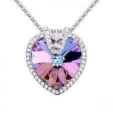 Колие BRIGHT HEART с кристали SWAROVSKI®, Vitrail light- Лилав/син цвят, Zerga brand, Код ZG N568