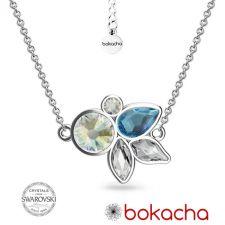 Колие DIVNA с кристали SWAROVSKI®, Multi / Aquamarine AB, Светло син цвят, Код PR N666