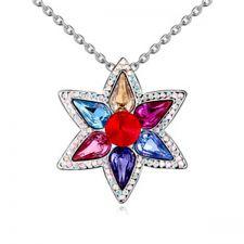 Колие BRIGHT FLOWER с кристали SWAROVSKI®, Zerga brand, Код ZG N567