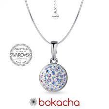 Колие с кристали SWAROVSKI® PAVE PURE 8мм Crystal Aurore Boreale** AB- Бял цвят, Код PR N712
