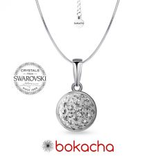 Колие с кристали SWAROVSKI® PAVE PURE 8мм Crystal - Бял цвят, Код PR N710