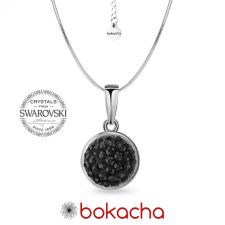 Колие с кристали SWAROVSKI® PAVE PURE 8мм HEM - Черен цвят, Код PR N711