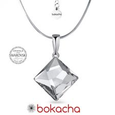 Колие с кристали SWAROVSKI® ASYMMETRIC SQUARE 10мм Crystal CAL V SI- Бял, Код PR N644