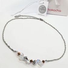 Колие чокър CANDY ELEGANCE с кристали SWAROVSKI®, Бял цвят, Код PR N718