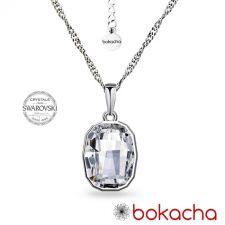 Колие с кристали SWAROVSKI® GRAPHIC в Crystal - Бял цвят, Код PR N641