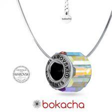 Колие с талисман КРЕПКО ЗДРАВЕ, Swarovski® Pave Beads, Код PR N525