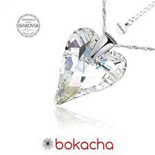 Колие с кристали Swarovski® WILD HEART Crystal 17 мм, Бял цвят, Код PR N410