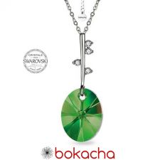 Колие POINT Swarovski® Oval Emerald - Зелен, Код PR N489