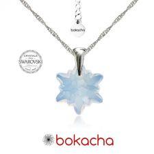 Колие с кристали Swarovski® EDELWEISS 14мм  White Opal - Опал, Код PR N442