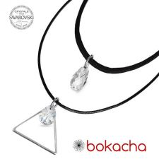 Чоукър колие Charming Choker Swarovski® BRIOLETTE 11мм Crystal, Бял цвят, Код PR N503