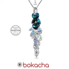 Колие с кристали Swarovski® BLUE PASSION Bermuda Blue BBL, Син цвят, Код PR N534