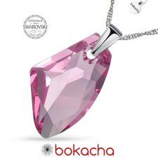 Колие с кристали Swarovski® GALACTIC 19мм Light Rose - Розов, Код PR N540