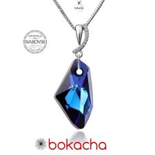 Колие CRYSTAL SWAROVSKI® GALACTIC 19мм Bermuda Blue BBL, Син, Код ZG N423