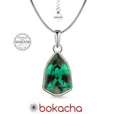 Колие с кристали SWAROVSKI® SLIM TRILLIANT в Emerald - Зелен цвят, Код PR N632