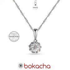 Колие с кристали SWAROVSKI® CHATON, 7 мм, Crystal - Бял цвят, Код PR N618