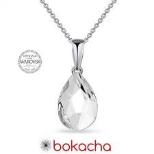 Колие с кристали SWAROVSKI® PEAR 14мм, Crystal, Бял, Код PR N573