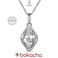 Колие с кристали SWAROVSKI® LEMON 14мм, Crystal, Бял, Код PRFNO N568