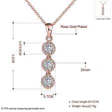 Колие СИЕНА с Австрийски кристали и 18К Розово Злато, Колекция Zerga Brand, Код 18KGFNL N14221-B