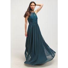 Приказна дълга рокля LAONA с пайети в петролено зелен цвят, Размер L-XL, Код DD0166