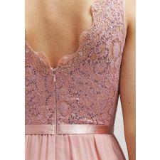 Романтична рокля LAONA с пайети в цвят пепел от рози, Размер S, Код DD0159