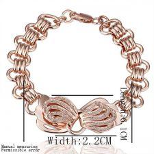 18KG B09142 Дамска гривна ЗЛАТНА МИДА, Zerga Brand - розово златно покритие
