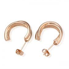 18KG E05083 Стилни дамски обици ХАЛКИ, Zerga Brand - розово златно покритие