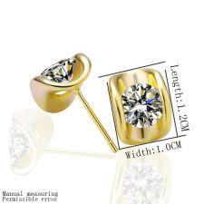 Обици БЛЯСЪК, жълто злато, Zerga Collection, 18KG E27698