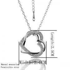 Колие и обеци ВПЛЕТЕНИ СЪРЦА, Zerga Jewelry - бяло златно покритие 18KG S39703