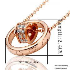 Колие МОЕТО СЪРЦЕ, Zerga Jewelry, розово златно покритие, 18KG N08228