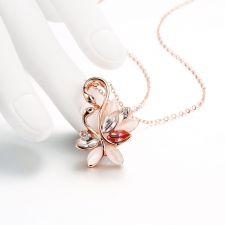 Колие ЗЛАТНИ ЛЕБЕДИ с Камък Котешко Око, Zerga Jewelry, Код 18KG N91113