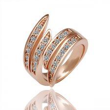 Дамски пръстен Спирала от колекция Zerga Brand - розово златно покритие, 18KG R05017