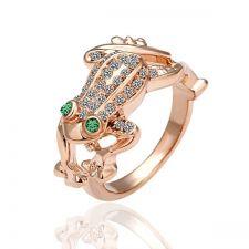 18KG R04193 Дамски пръстен Жаба, Zerga Collection