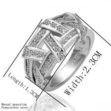 Пръстен ПЛЕТЕНИЦА Zerga Jewelry - 18К бяло златно покритие, 18KG R01682
